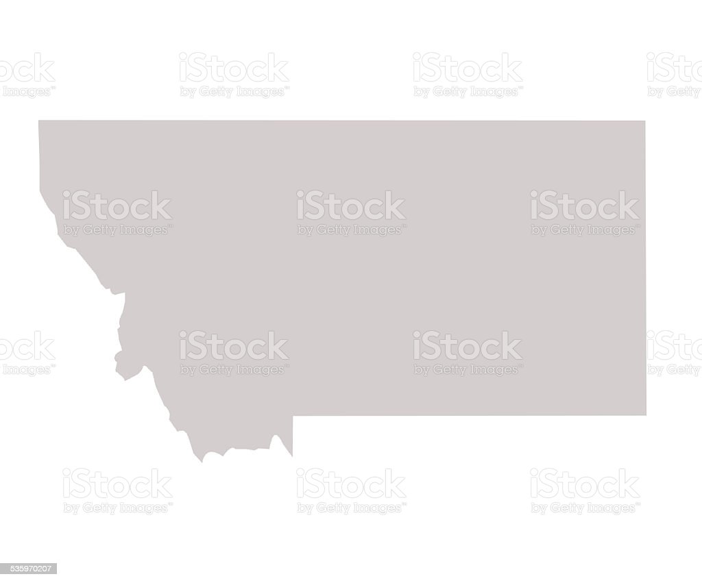 Montana State map vector art illustration