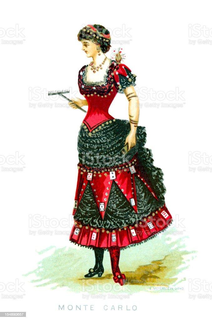 Monte Carlo Fancy Dress Costume royalty-free stock vector art