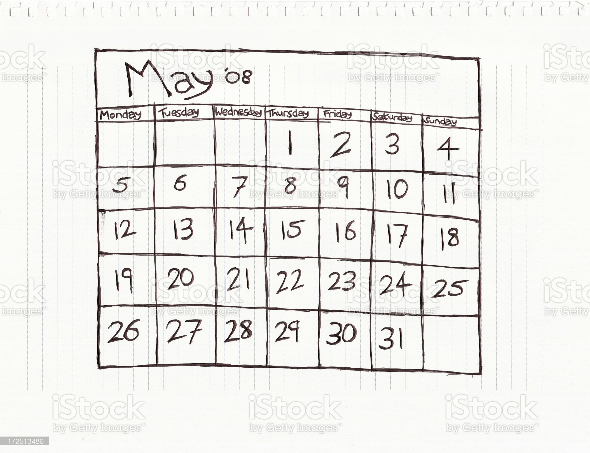 Month of May royalty-free stock vector art