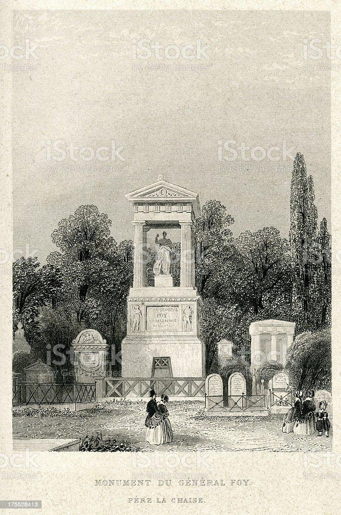 Monument du General Foy royalty-free stock vector art