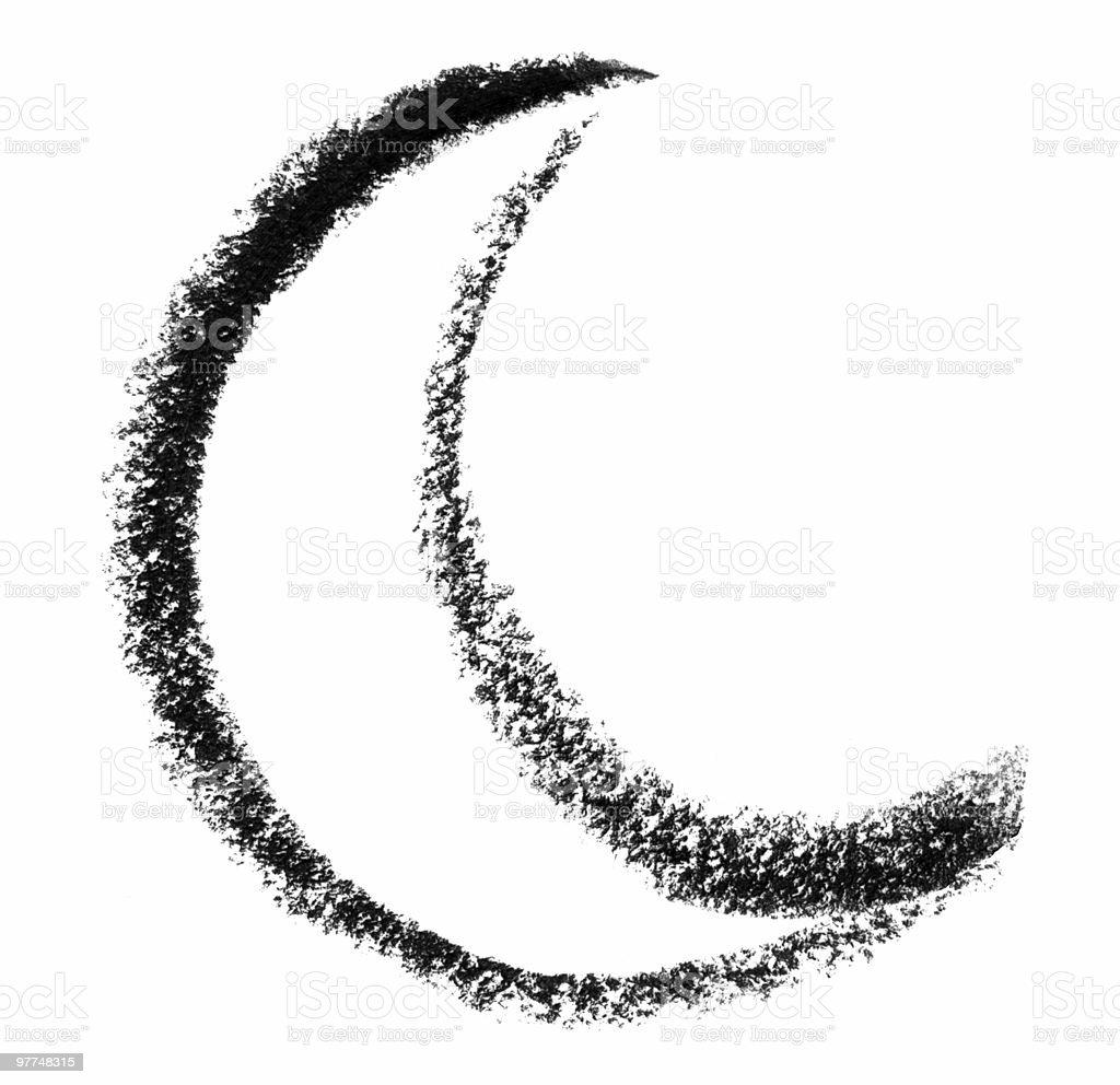 moon sketch royalty-free stock vector art