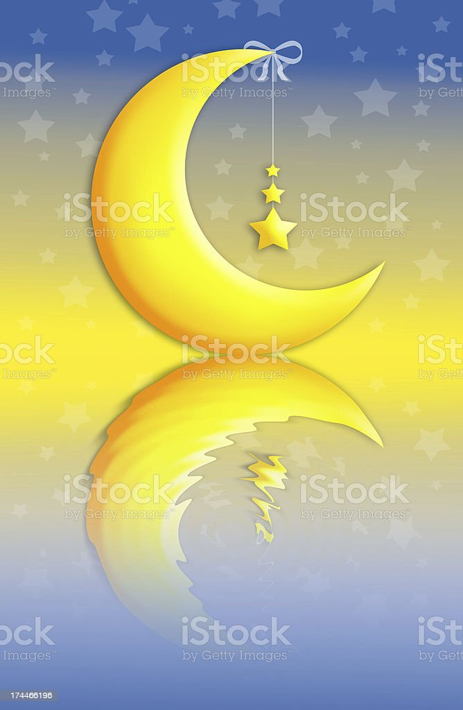 Moon with stars royalty-free stock vector art