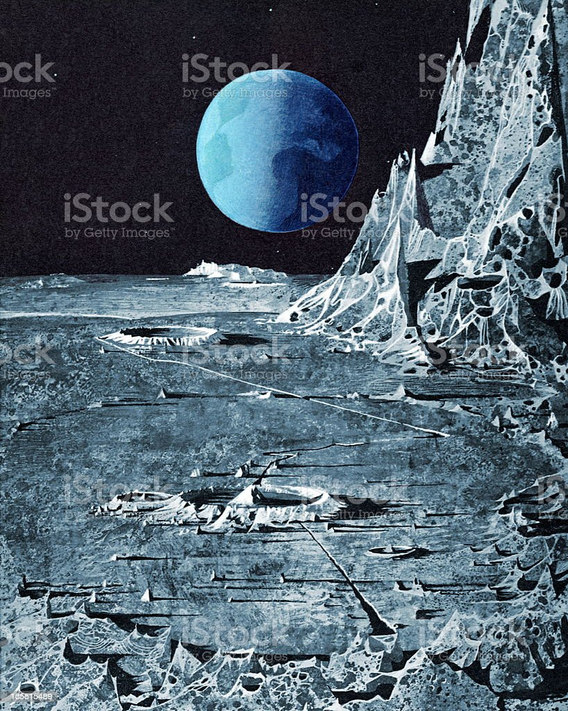Moonscape royalty-free stock vector art