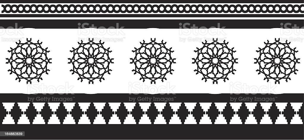 Moorish Styles 1 vector art illustration
