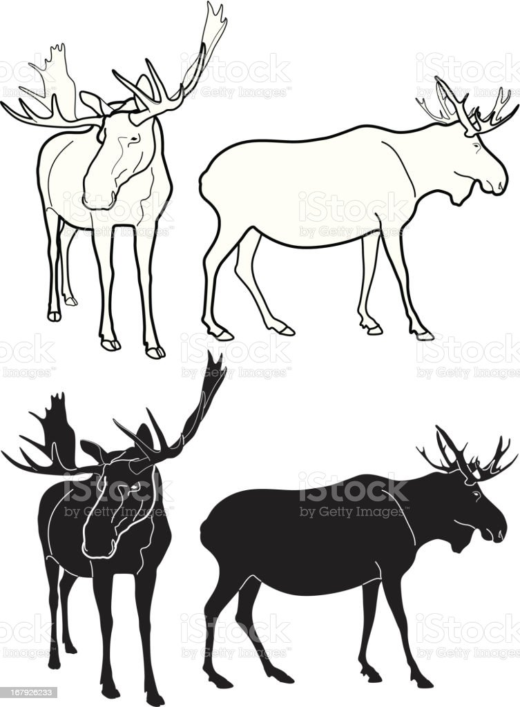 Moose royalty-free stock vector art