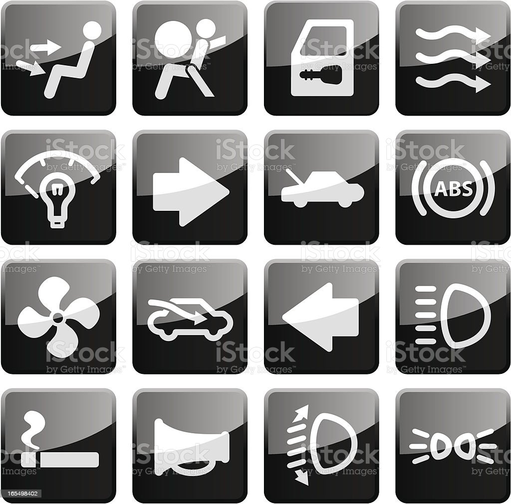 More Auto Controls | Glossy Collection royalty-free stock vector art