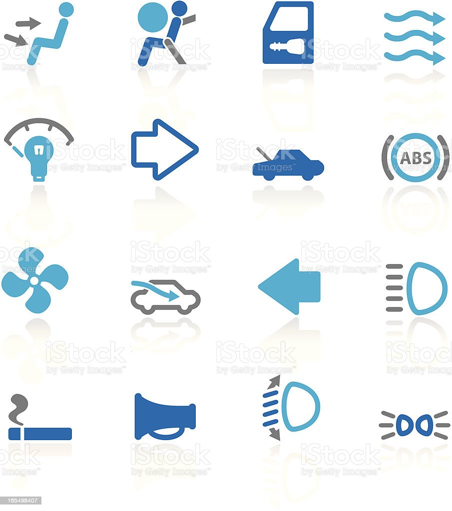More Auto Controls | Glossy Collection vector art illustration