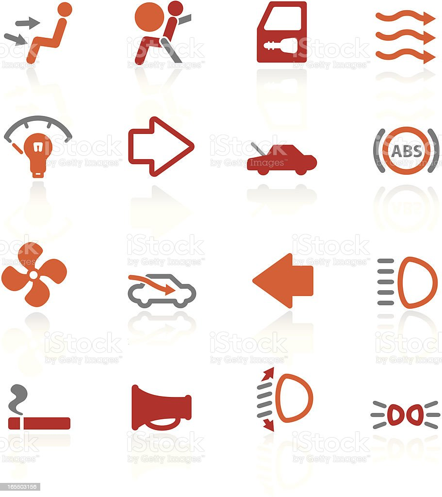 More Auto Controls | Scorched Collection royalty-free stock vector art