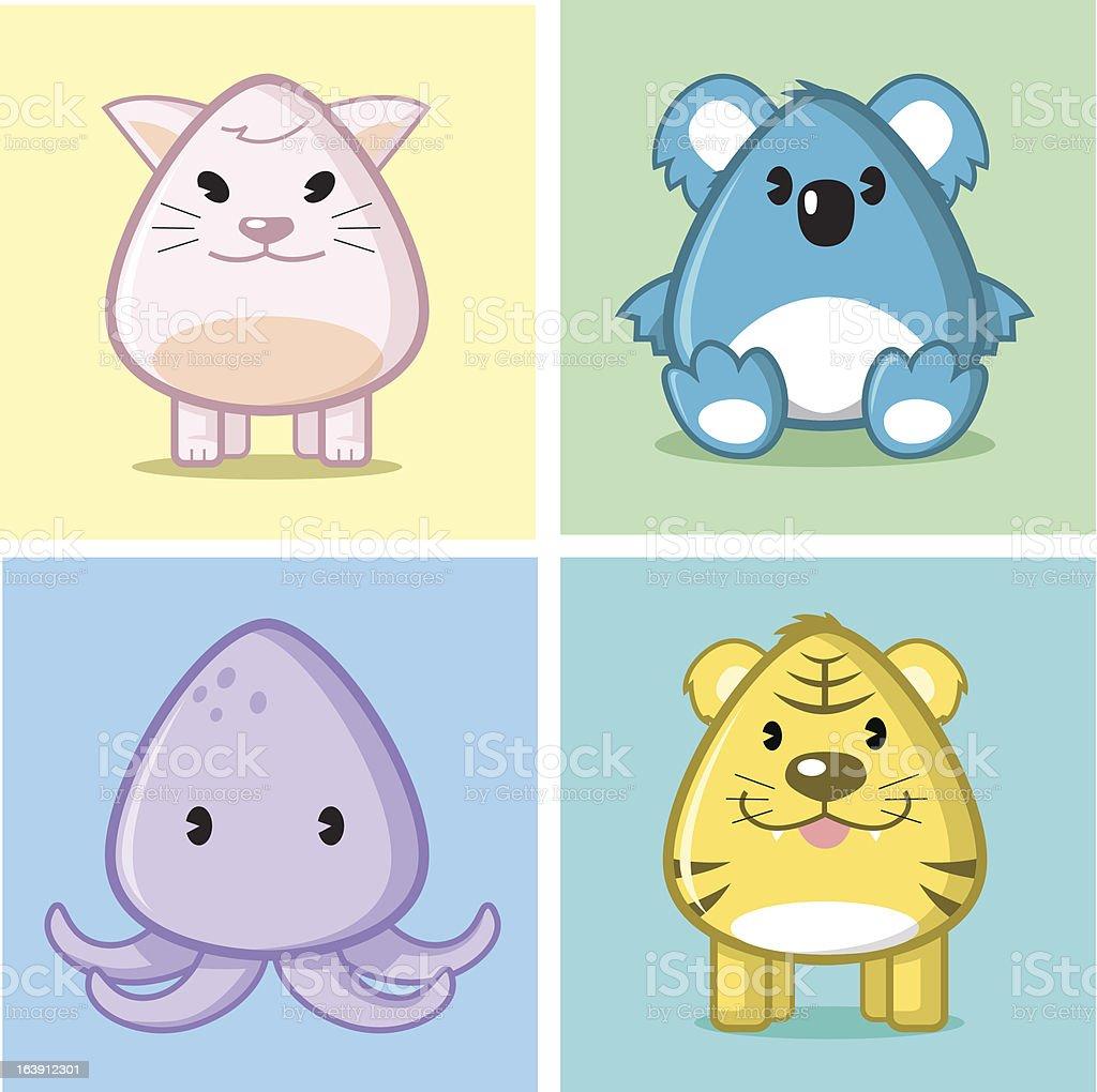 More cute animal royalty-free stock vector art