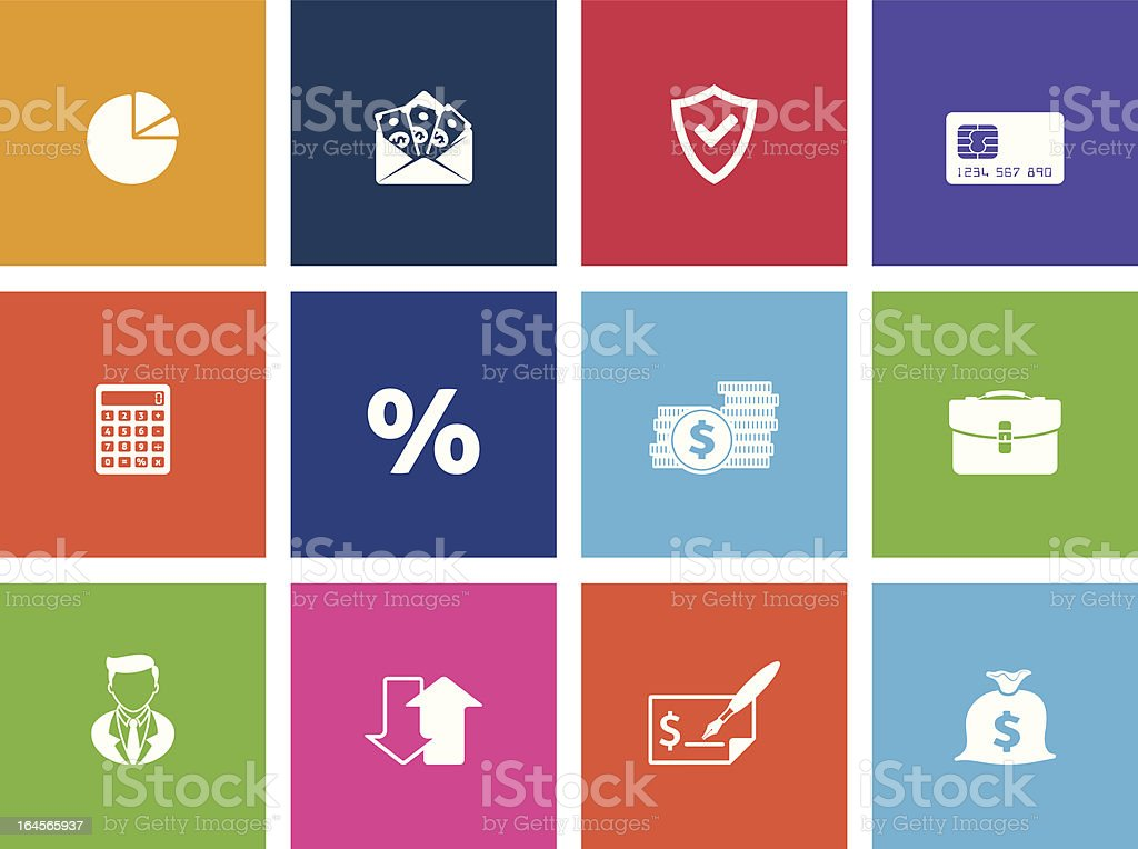 More Finance Icons vector art illustration