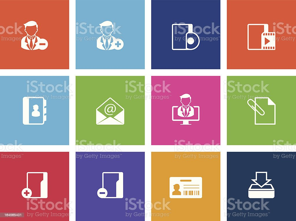 More Group Collaboration Icons royalty-free stock vector art