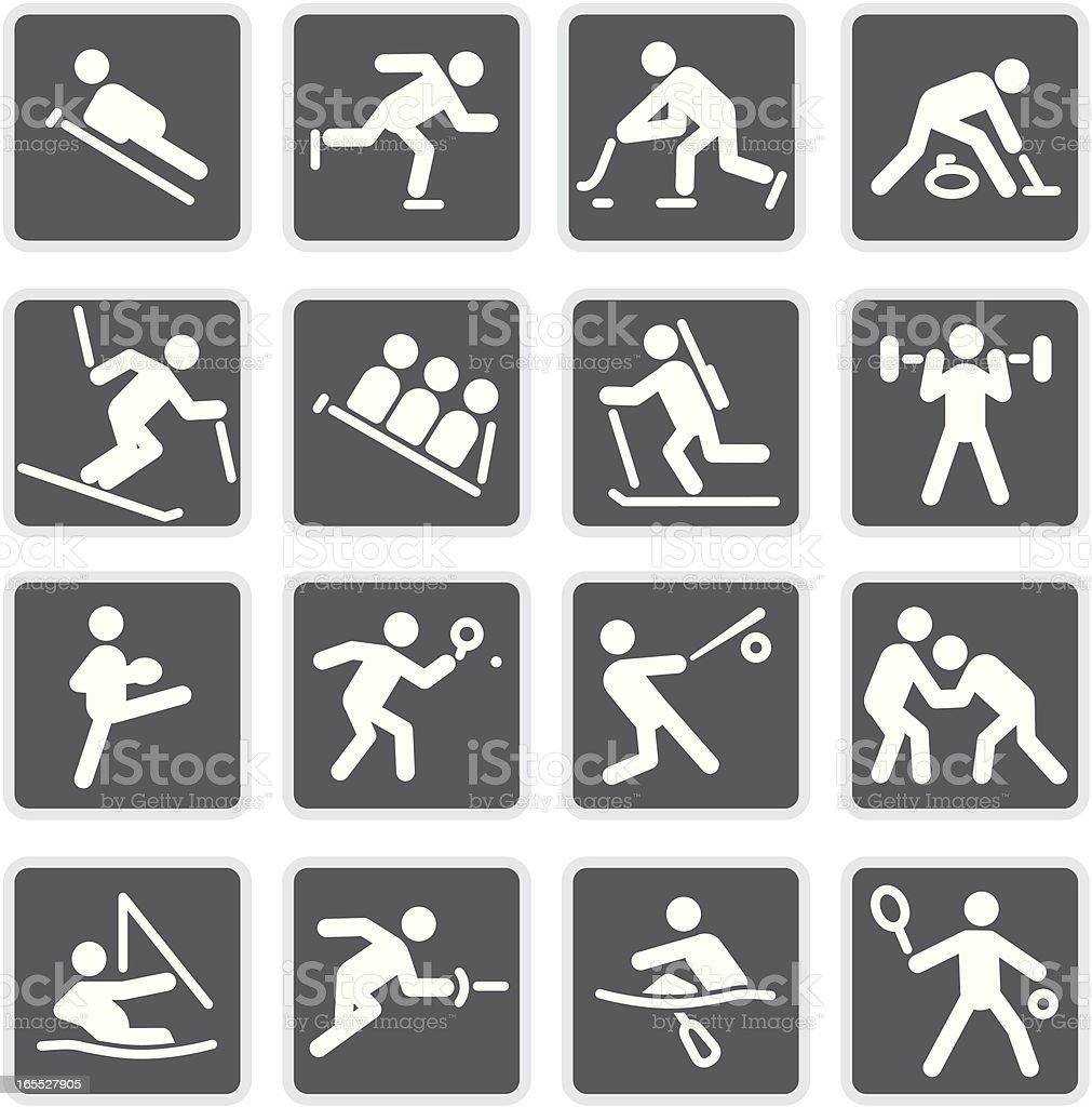 More Sports | Matte Collection vector art illustration