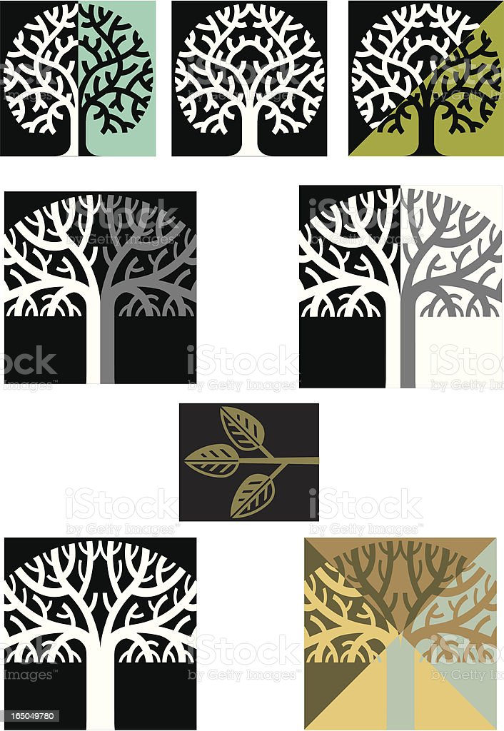 More trees royalty-free stock vector art