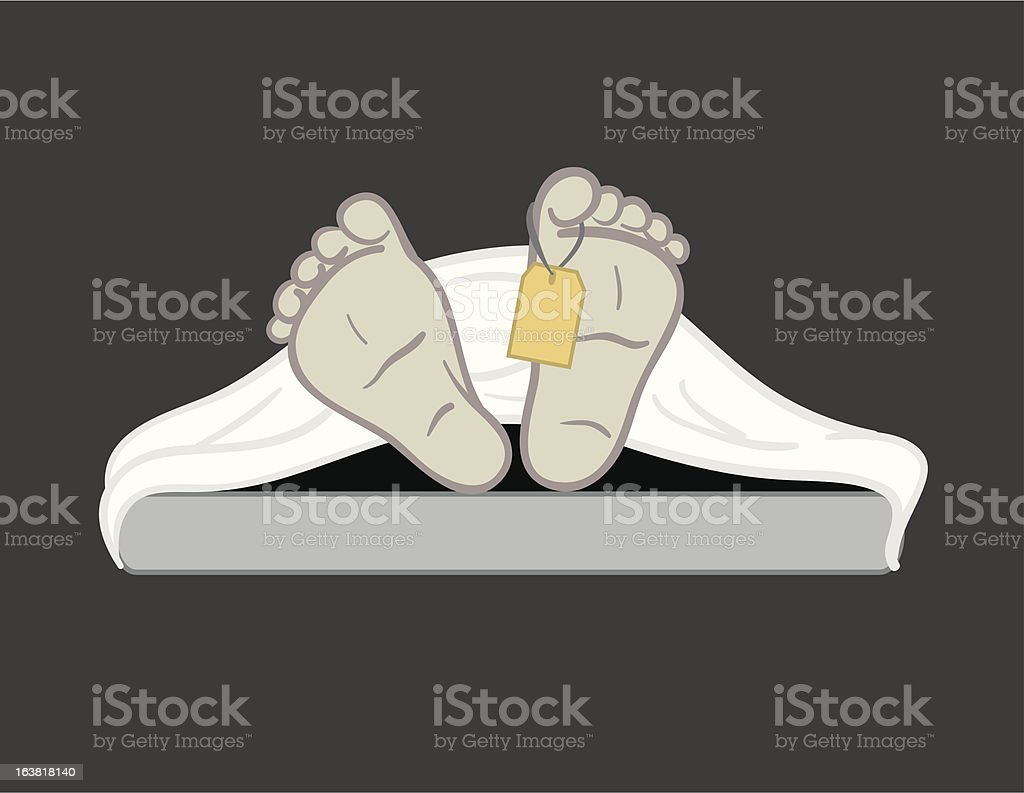 Morgue Resident royalty-free stock vector art