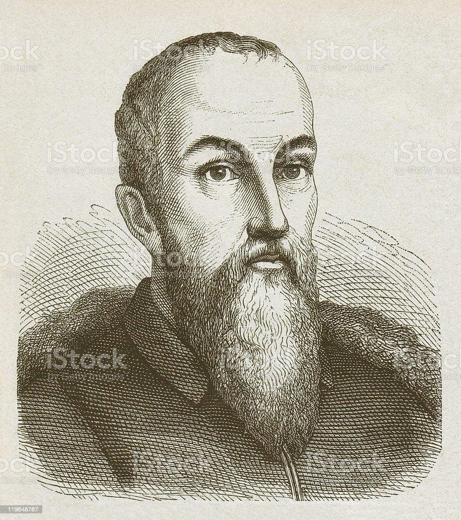 Moritz of Saxony (1521-1553) Saxon Elector, wood engraving, published 1877 vector art illustration