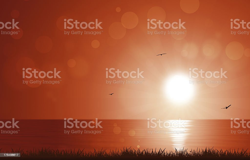 Morning Sun at Sea royalty-free stock vector art