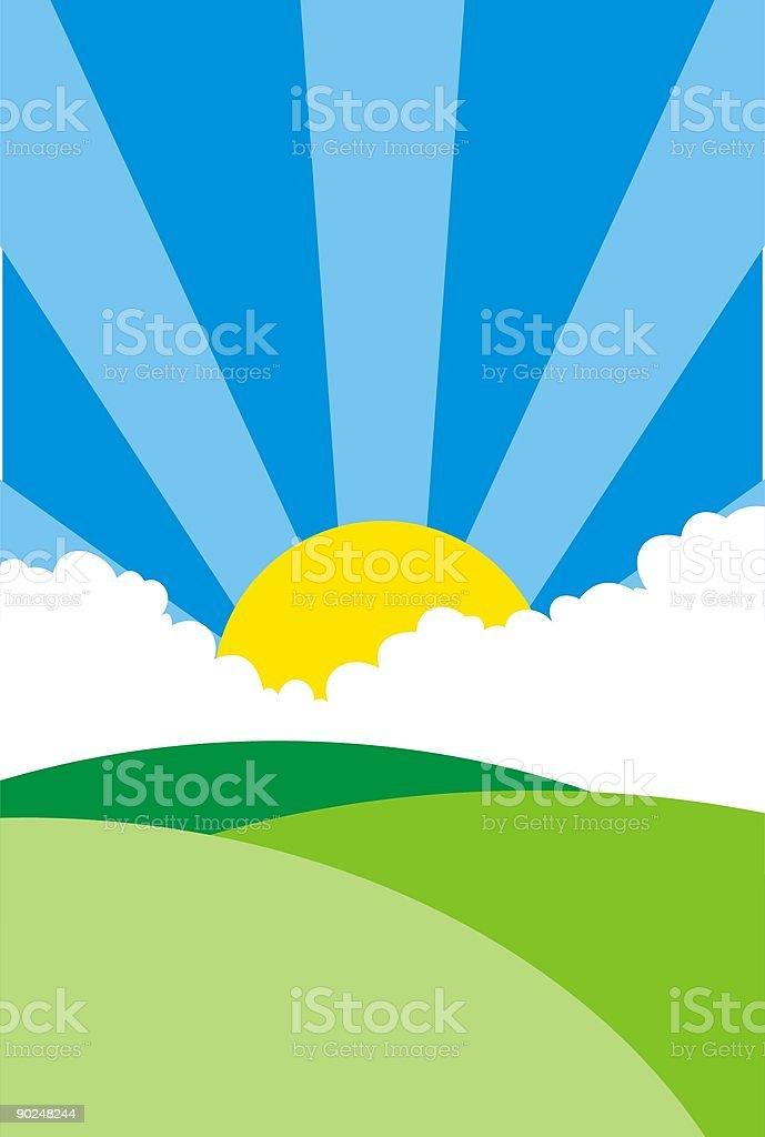 Soleil du matin stock vecteur libres de droits libre de droits