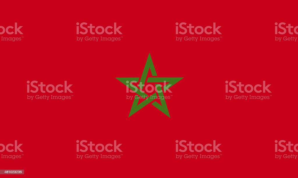 moroccan flag vector art illustration