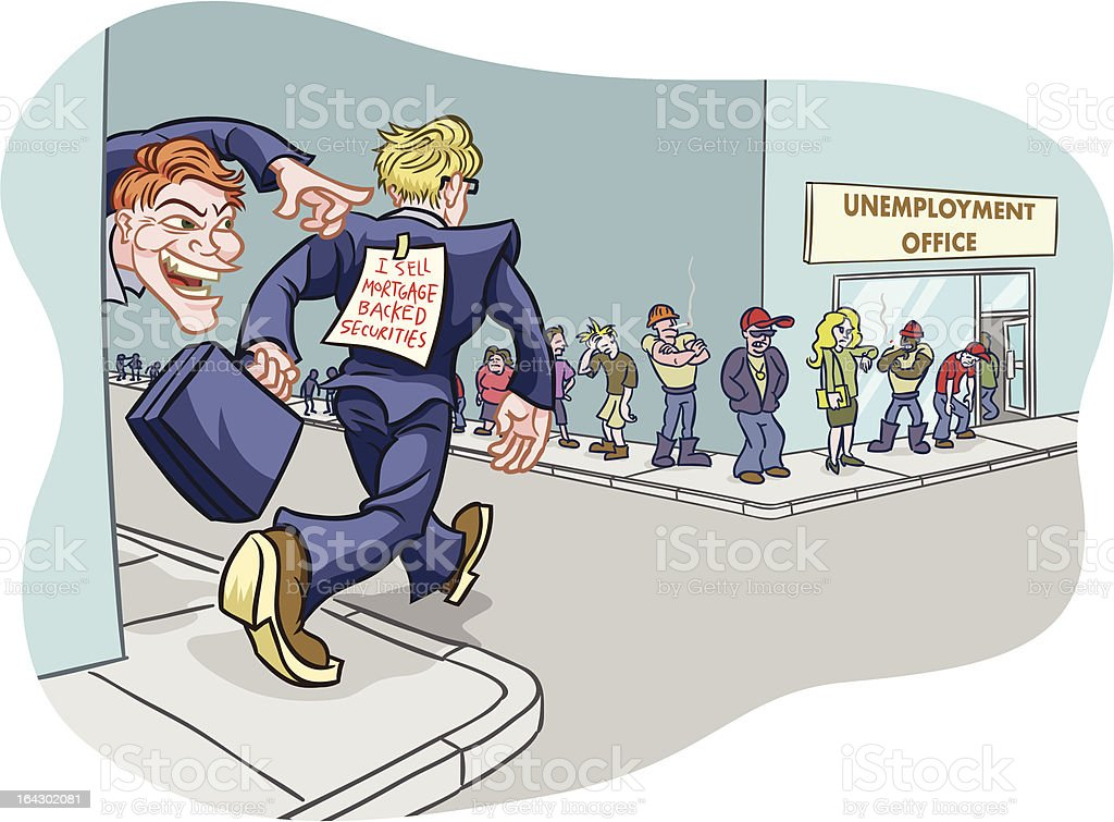 Mortgage Backed Securities Prank vector art illustration