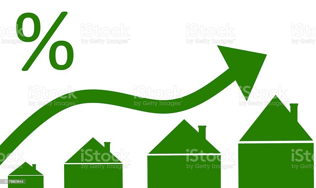 mortgage interest rates concept vector art illustration