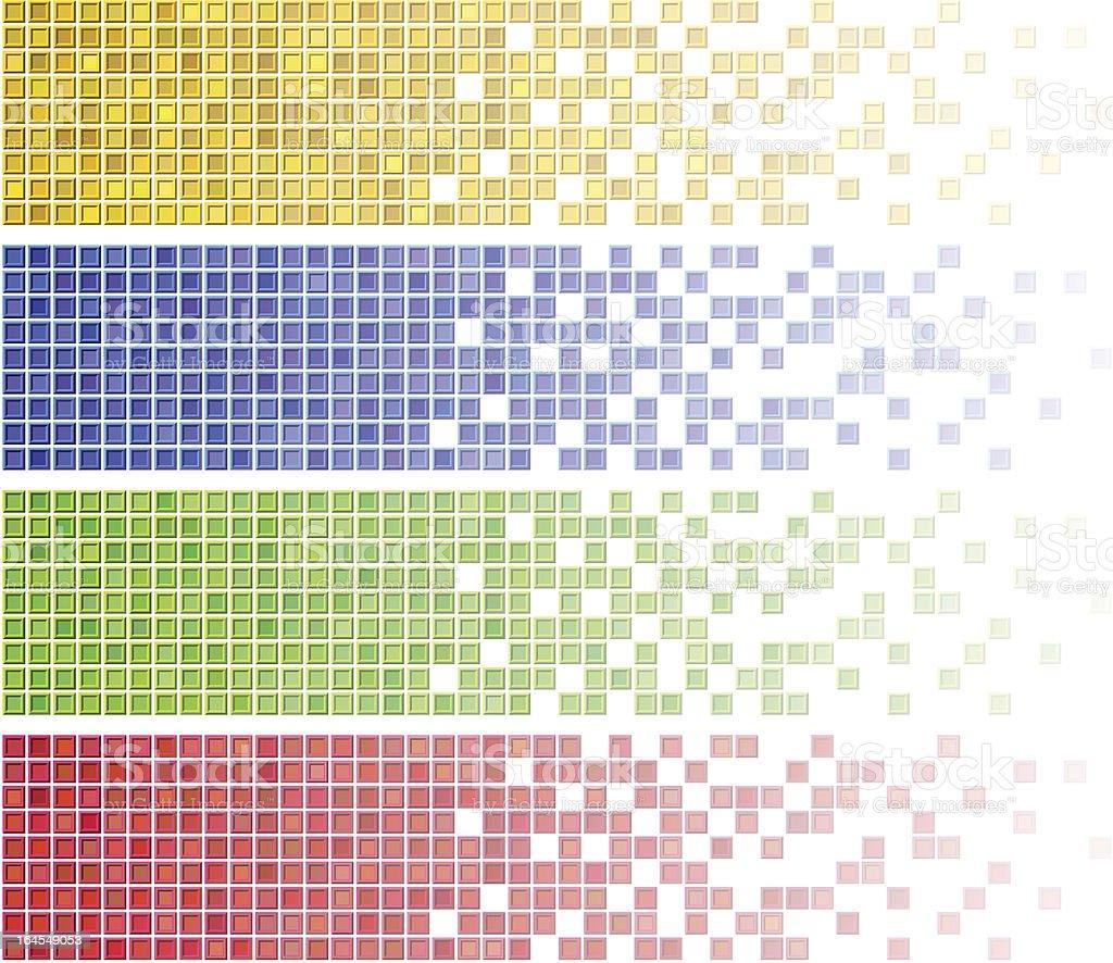 Mosaic banners. vector art illustration
