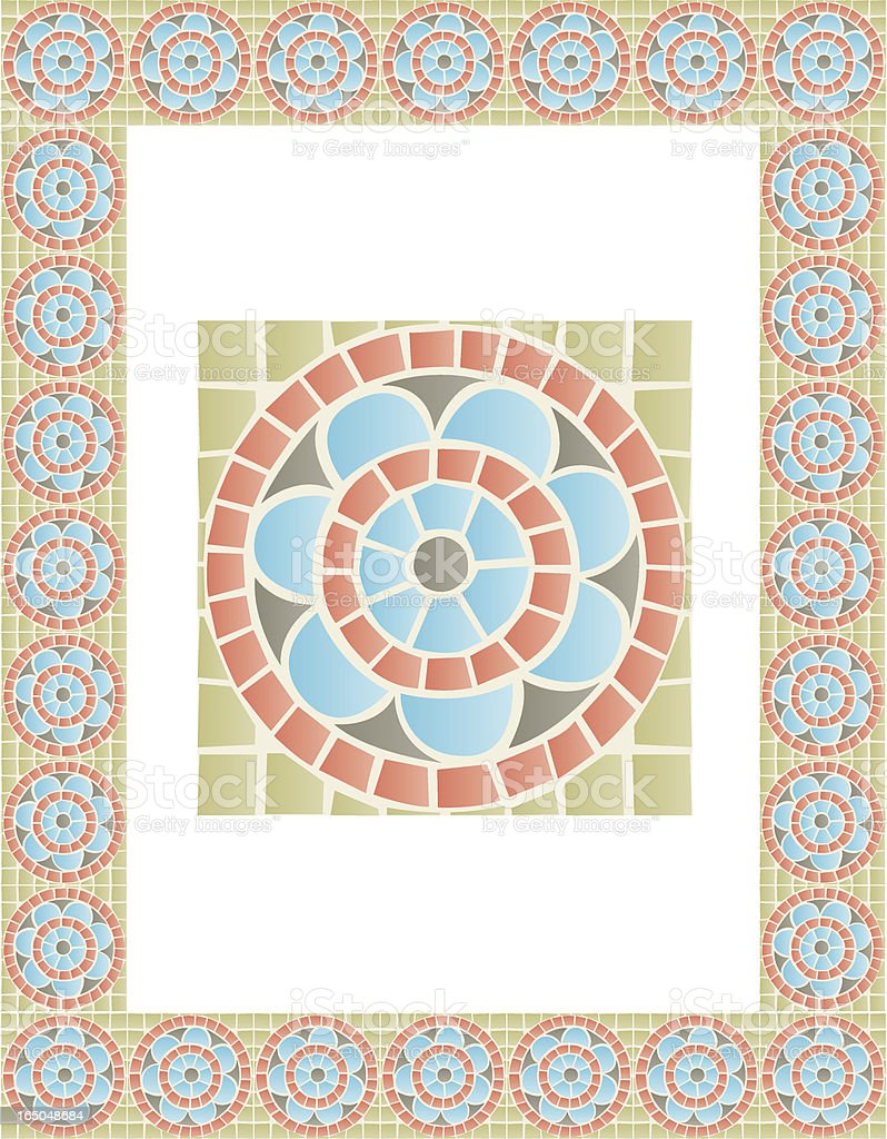 Mosaic border tile royalty-free stock vector art