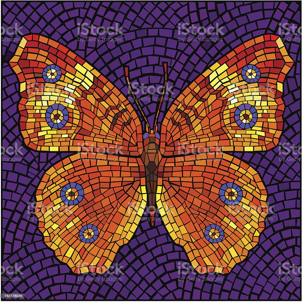 Mosaic butterfly royalty-free stock vector art