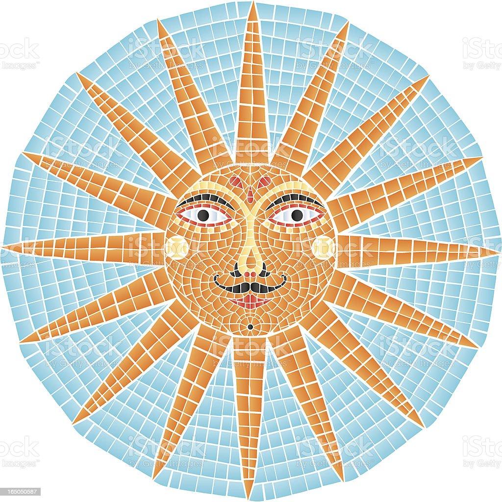 Mosaic sun royalty-free stock vector art