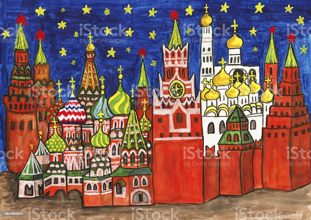 Moscow, painting royalty-free stock vector art