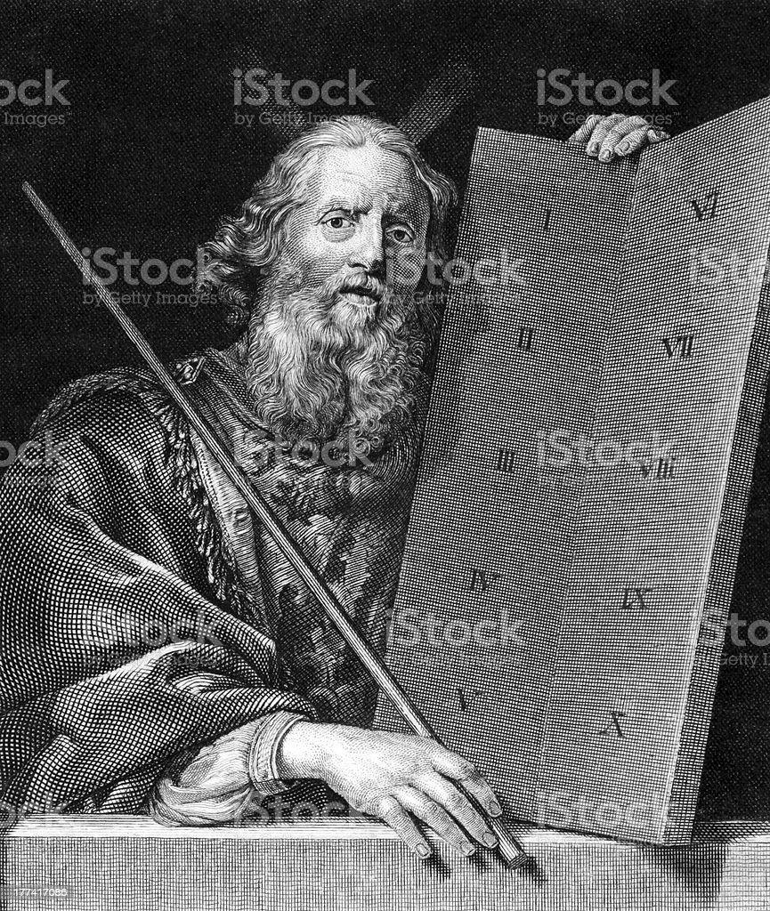 Moses vector art illustration
