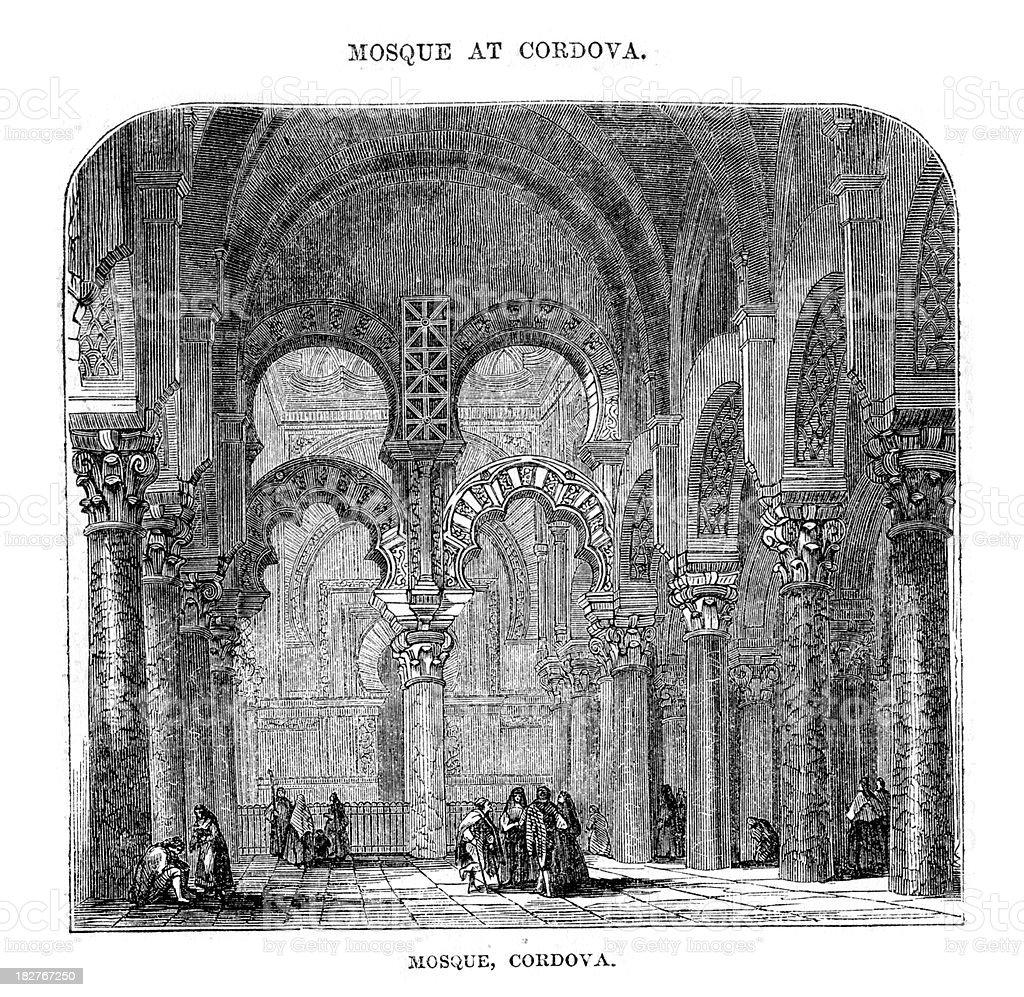 Mosque at Cordoba vector art illustration
