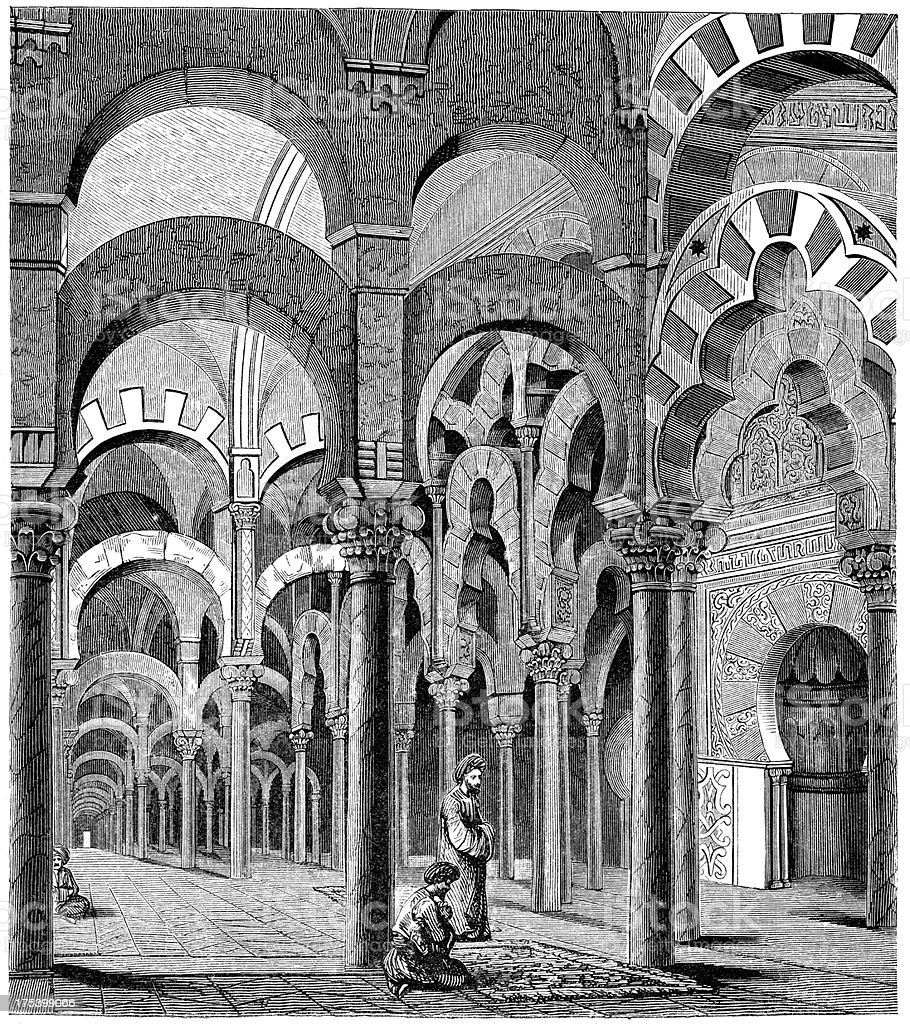 Mosque of Cordoba vector art illustration