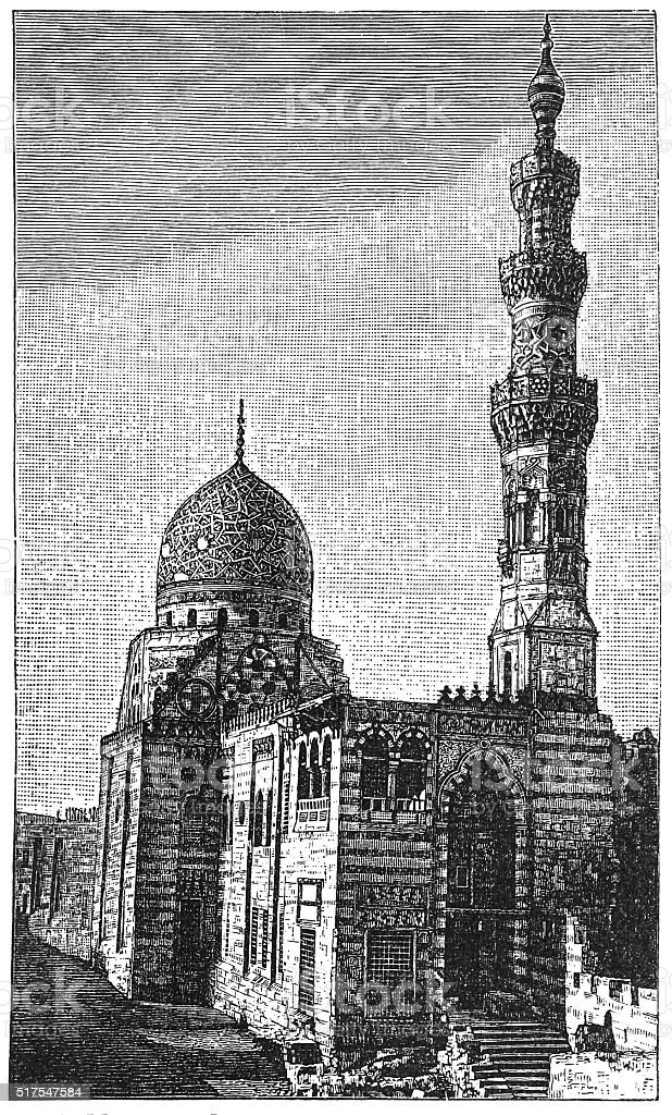 Mosque of Sultan al-Ashraf Qaytbay, Cairo, Egypt vector art illustration
