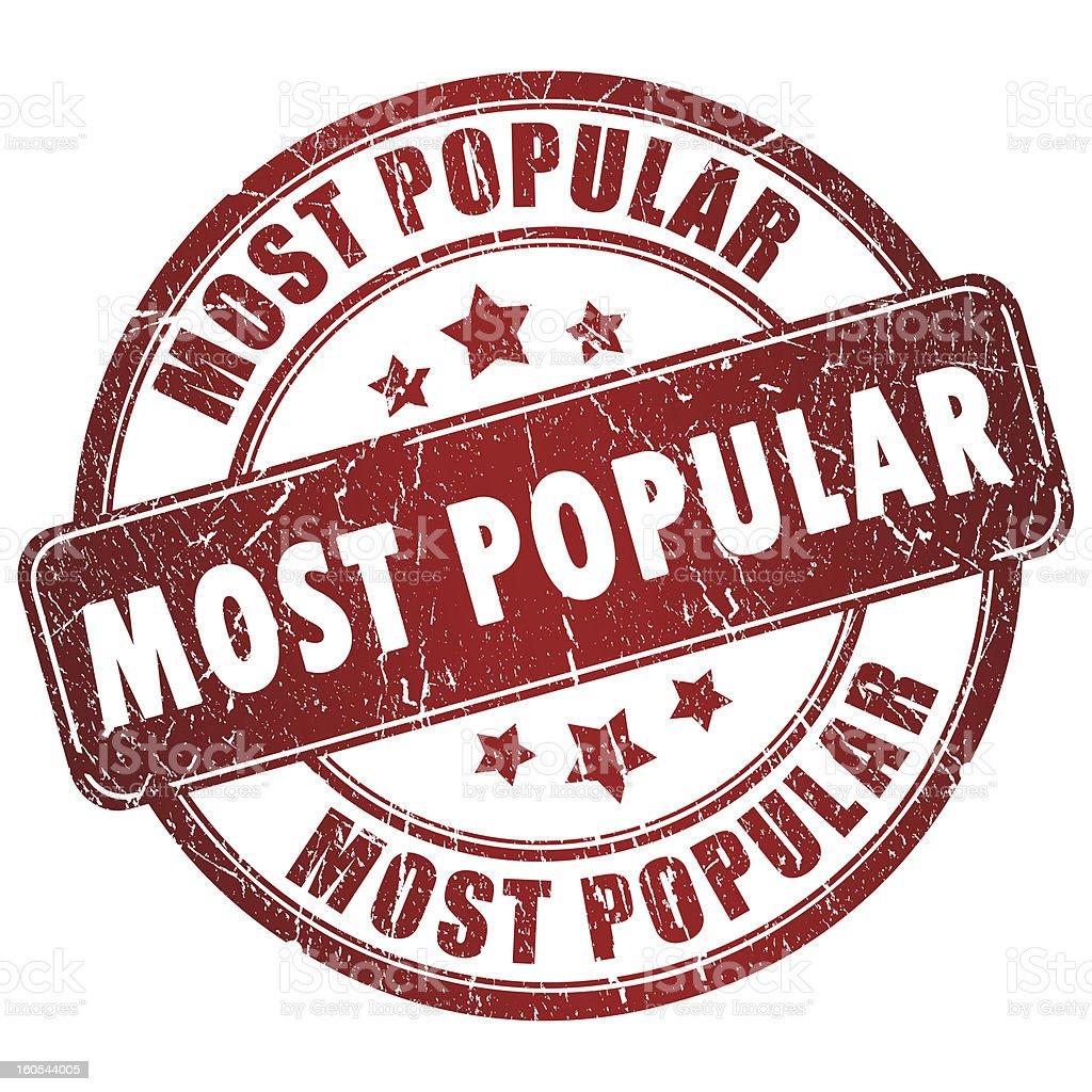 Most popular stamp vector art illustration