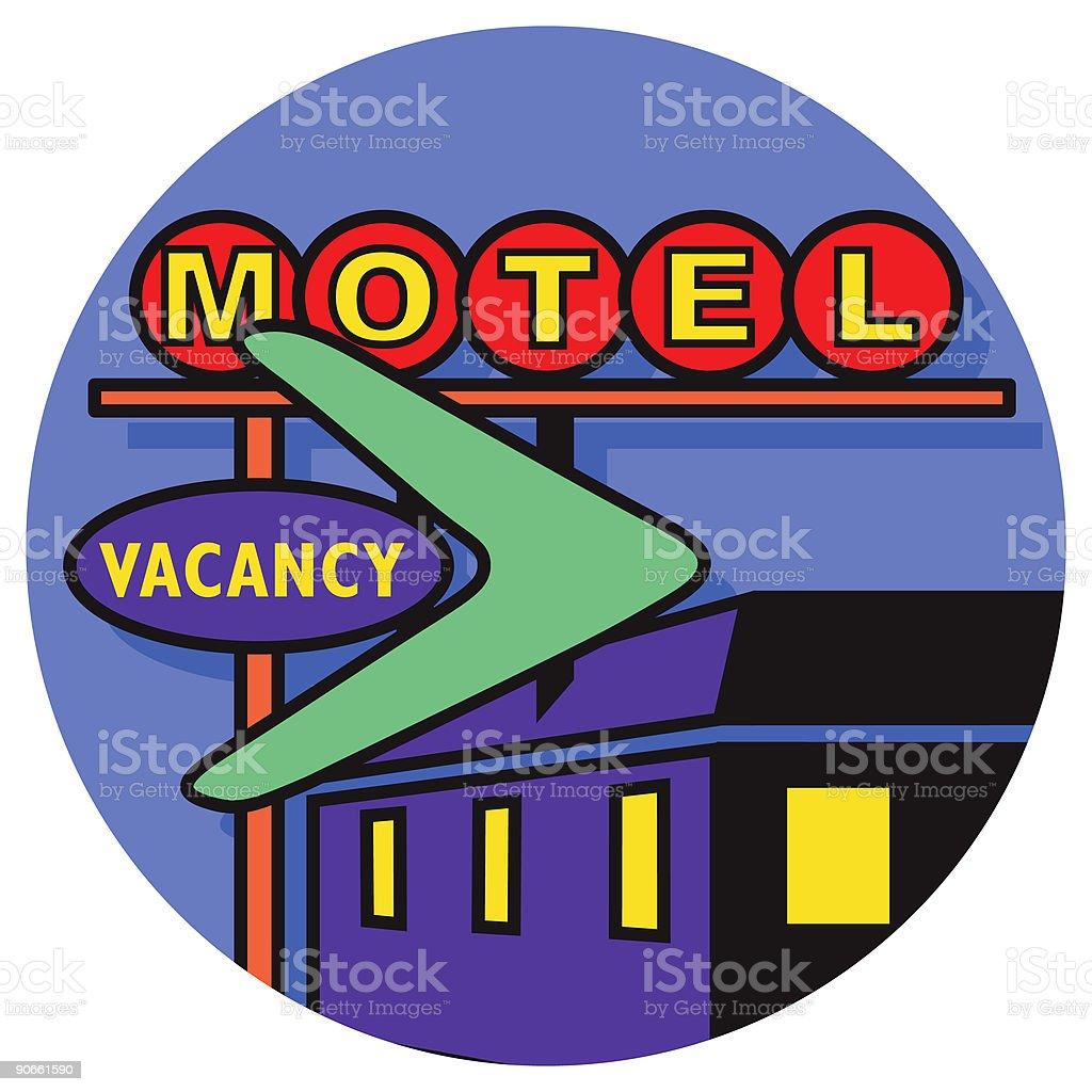 motel icon royalty-free stock vector art