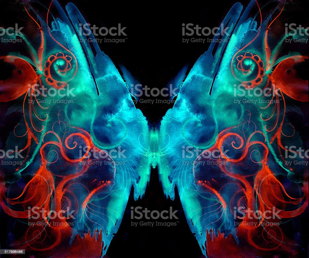 moth butterfly vector art illustration