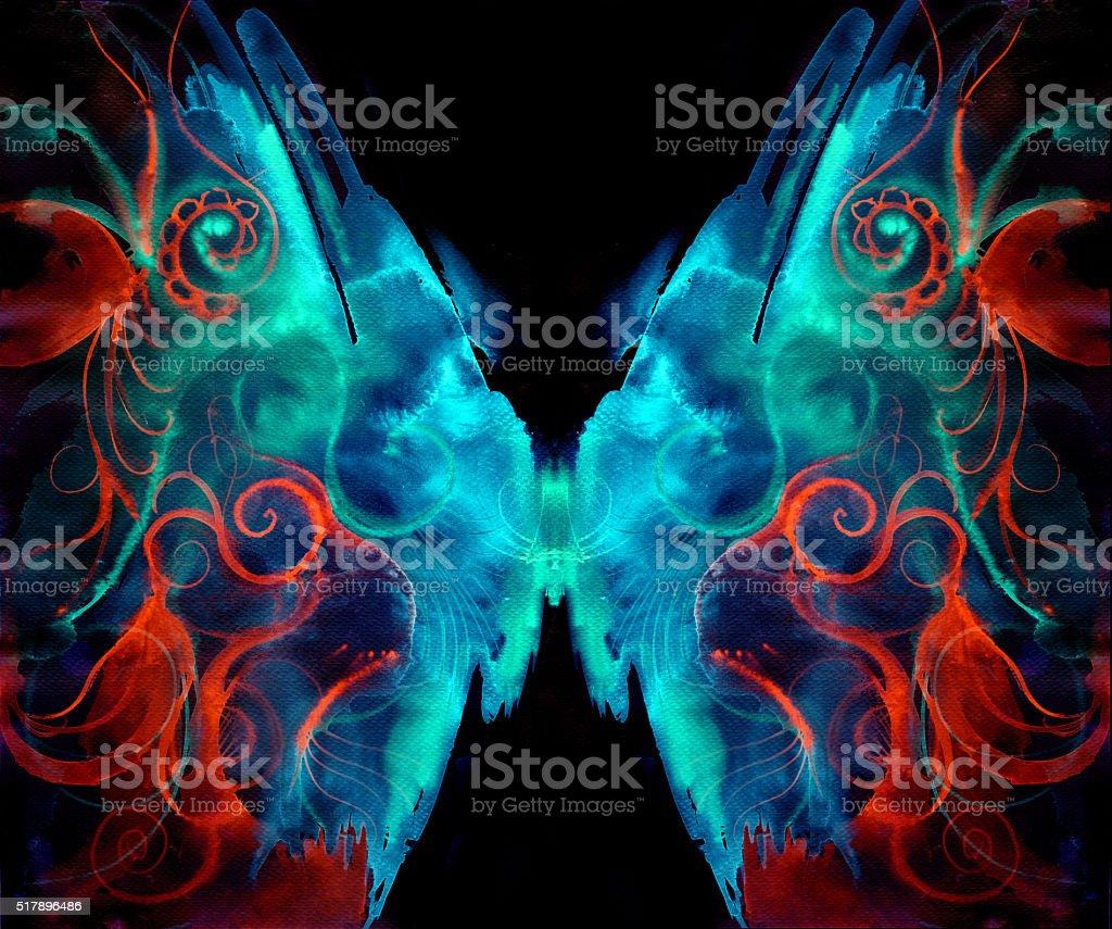 moth butterfly vector art illustration