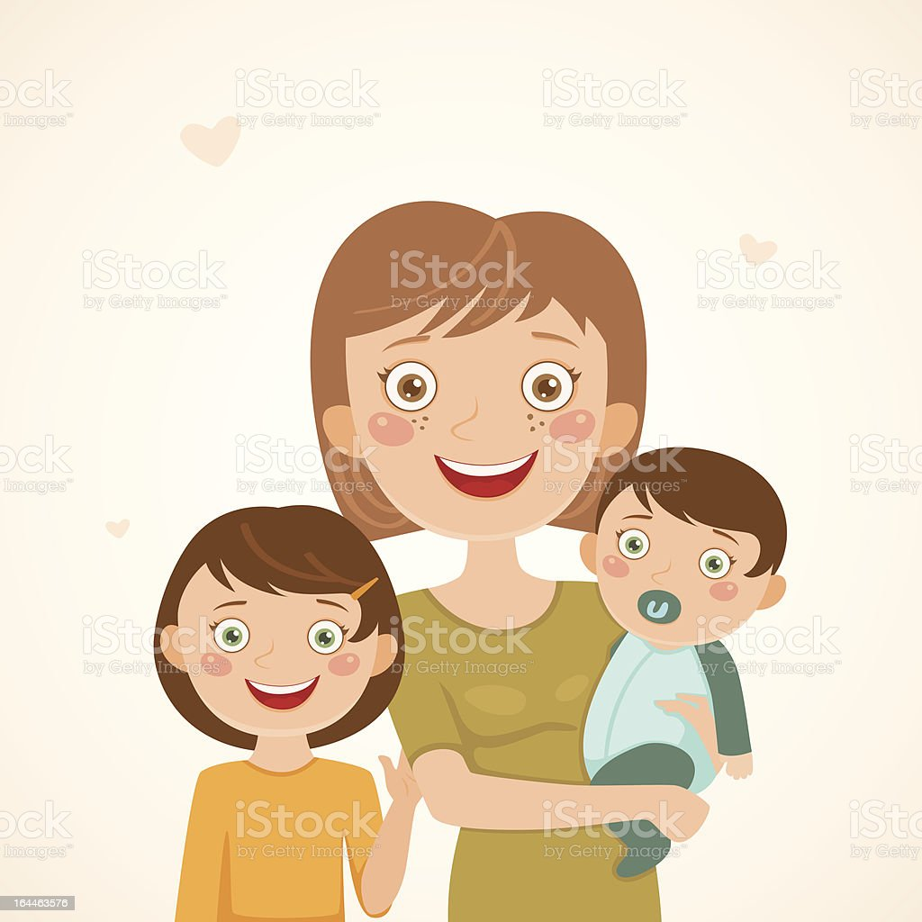 Mother with children royalty-free stock vector art