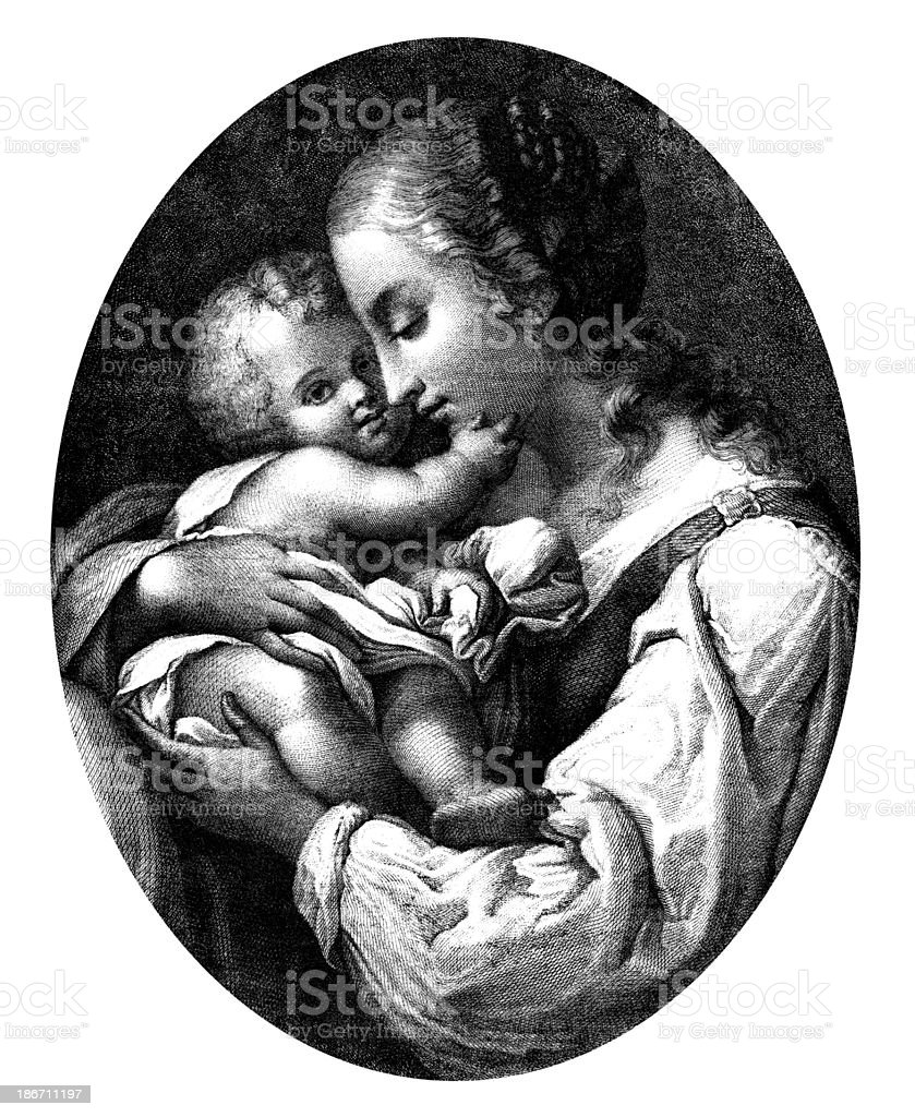 Motherly Love. royalty-free stock vector art