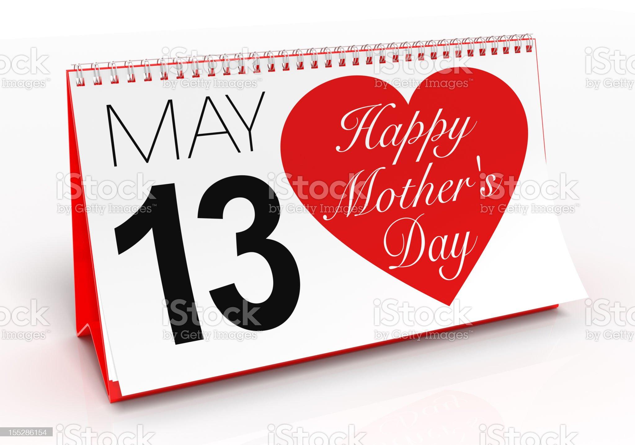 Mother's Day Calendar royalty-free stock vector art