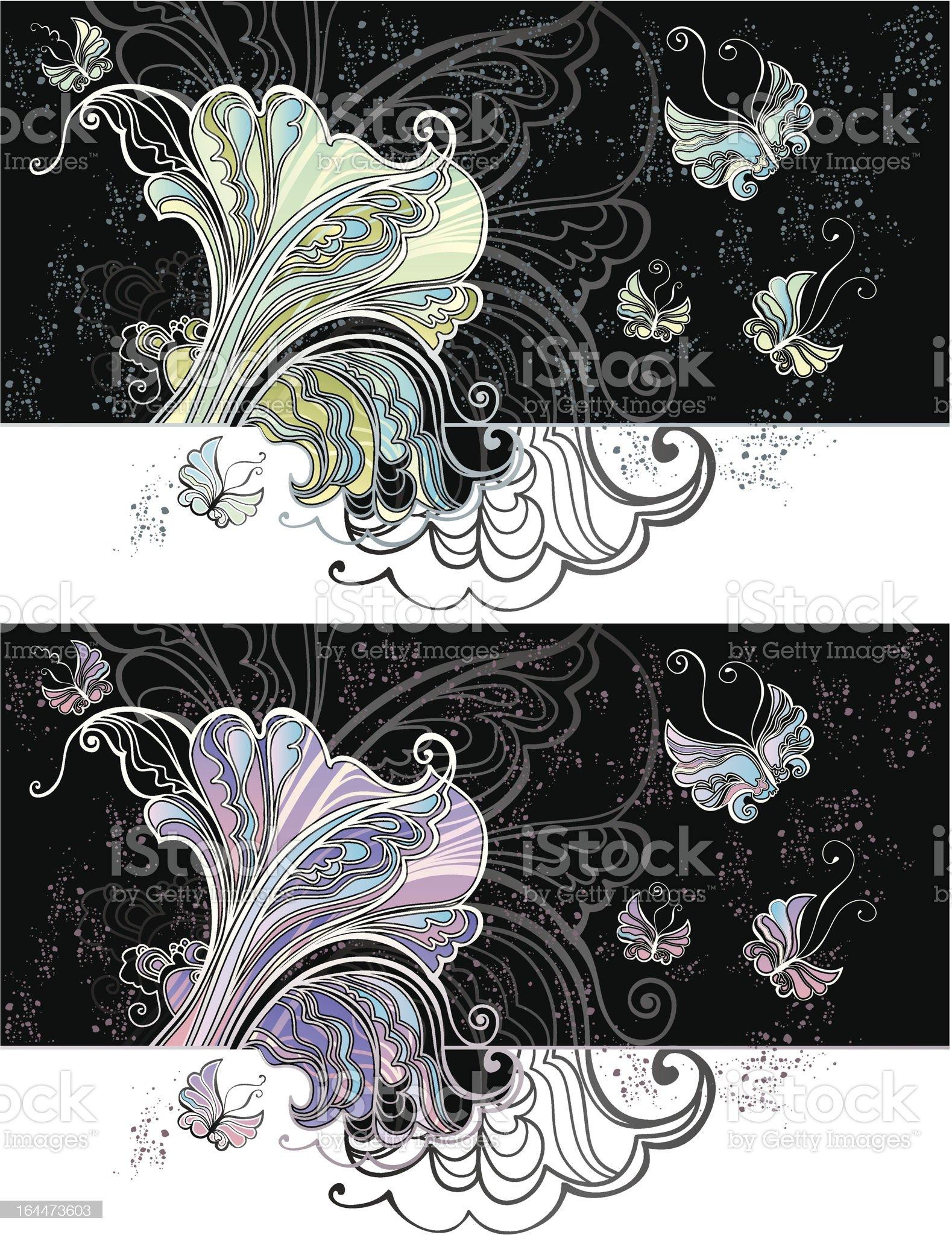 Moths. royalty-free stock vector art