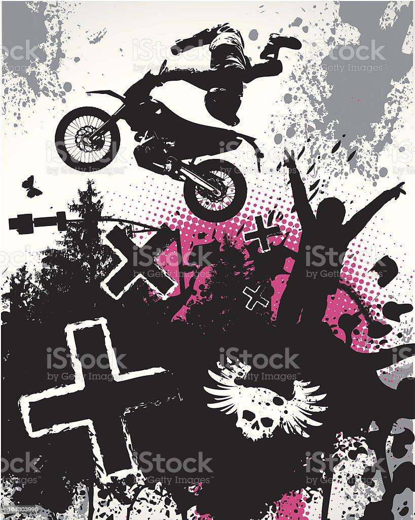 Motocross Poster royalty-free stock vector art
