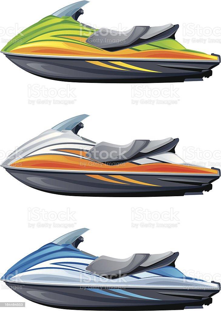 Motor boat royalty-free stock vector art