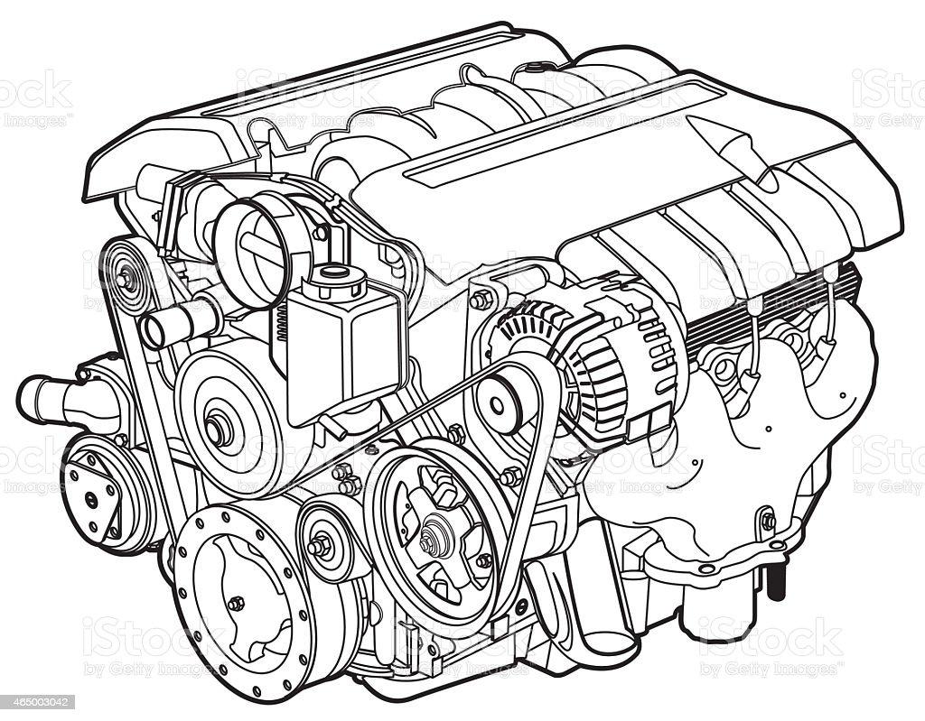motor_line vector art illustration