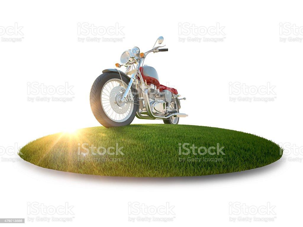 Moto sur une île de vol stock vecteur libres de droits libre de droits
