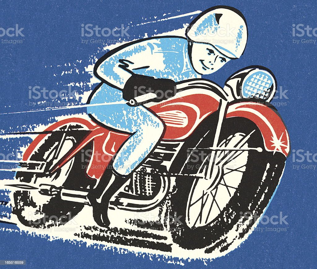 Motorcycle Racer royalty-free stock vector art