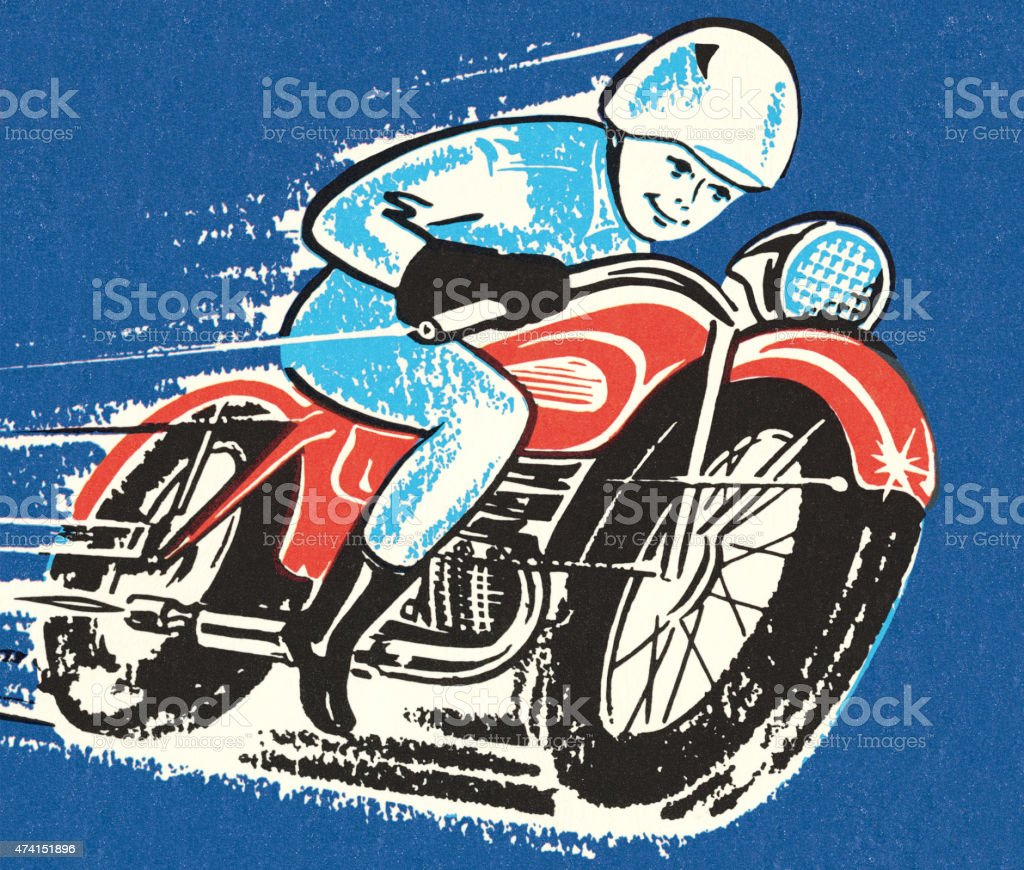 Motorcycle Racer vector art illustration