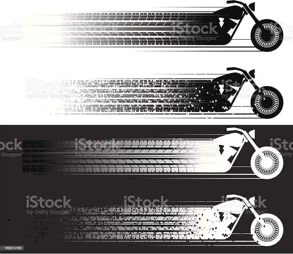 motorcycle skid royalty-free stock vector art