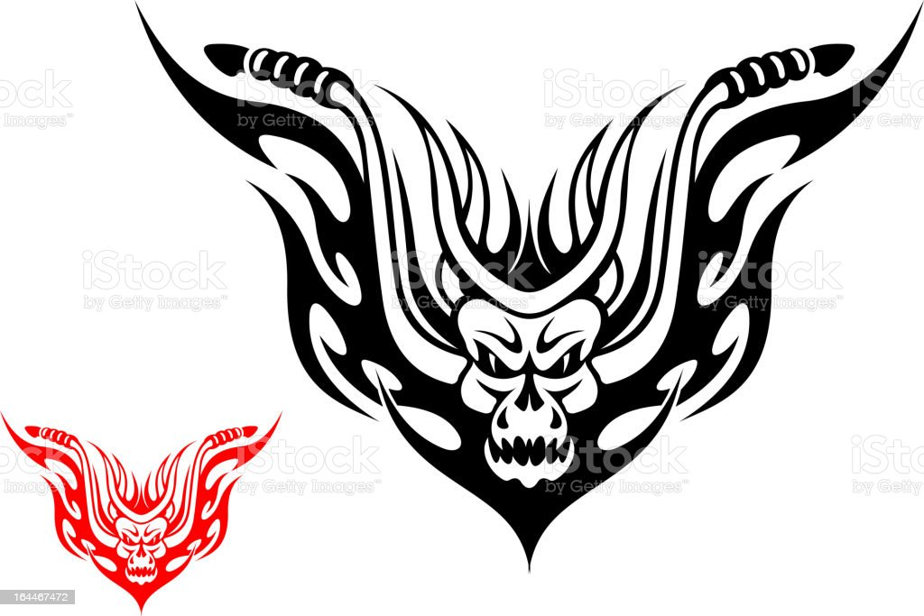 Motorcycle tattoo royalty-free stock vector art