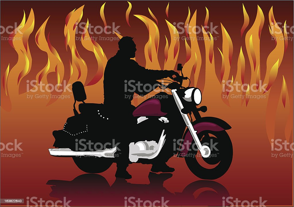 motorcyclist royalty-free stock vector art